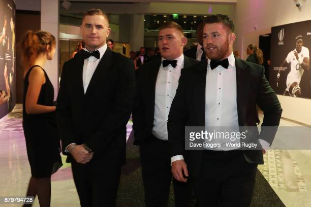Jamie Heaslip Tadhg Furlong and Sean O'Brien of Ireland attend the World Rugby Awards 2017 in the Salle des Etoiles at MonteCarlo Sporting Club on...