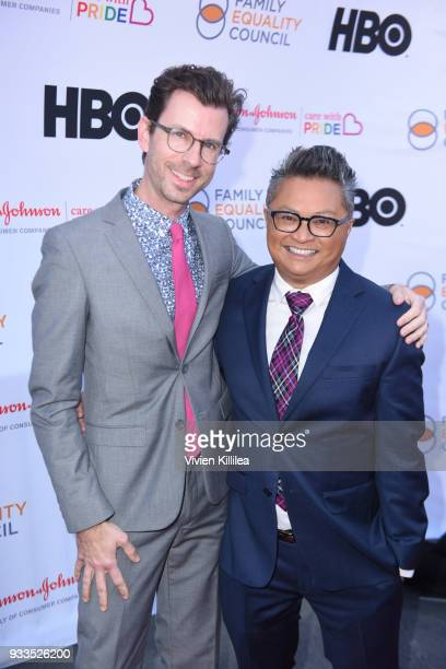 Jamie Hebert and Alec Mapa attend Family Equality Council's Impact Awards at The Globe Theatre at Universal Studios on March 17, 2018 in Universal...