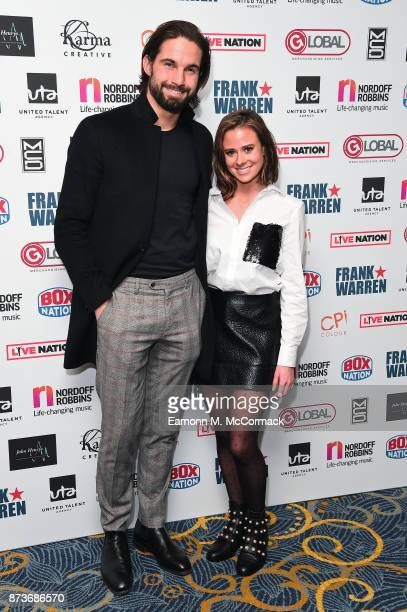 Jamie Hewitt and Camilla Thurlow arriving at The Nordoff Robbins Championship Boxing dinner held at London Hilton on November 13 2017 in London...