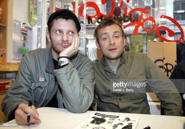 Jamie Hewlett and Damon Albarn of Gorillaz