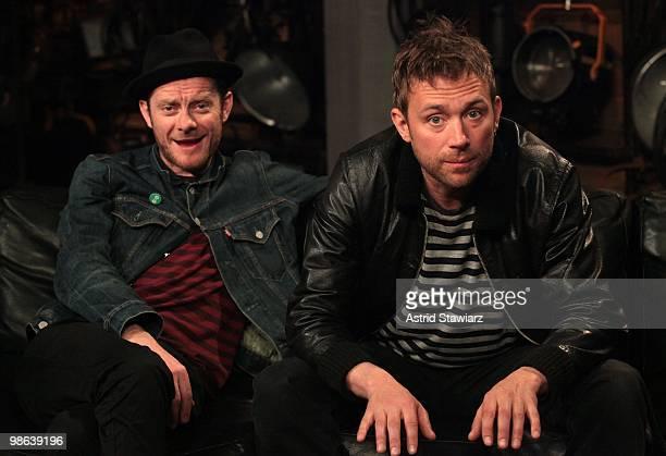 Jamie Hewlett and Damon Albarn of Gorillaz visit fuse Studios on April 22 2010 in New York City