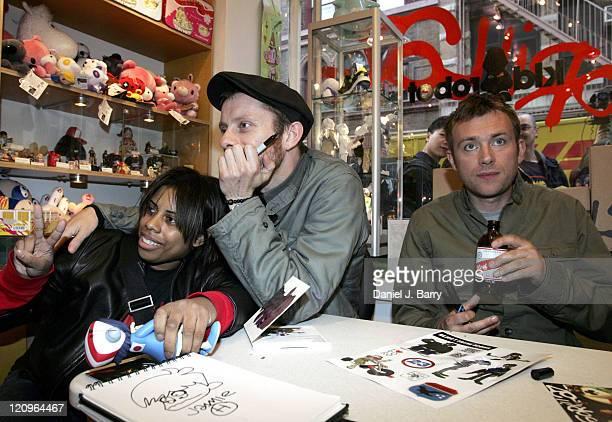 Jamie Hewlett and Damon Albarn of Gorillaz with guest