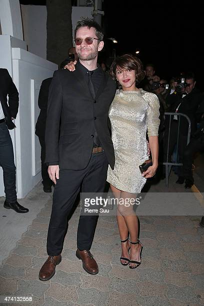 Jamie Hewlett and Emma De Caunes arrive at the Chanel and Vanity Fair party during the 68th annual Cannes Film Festival on May 20 2015 in Cannes...