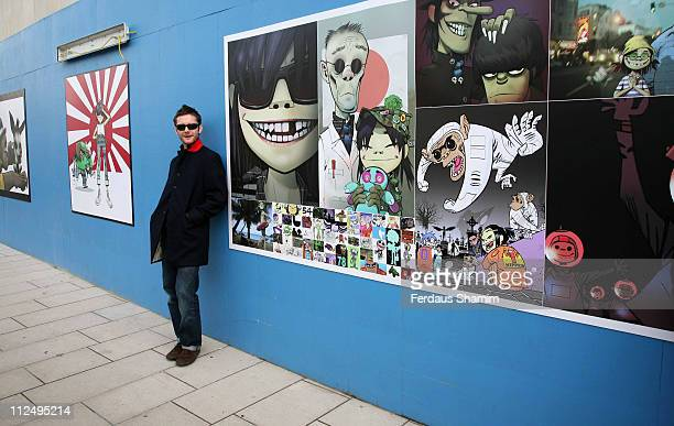 Jamie Hewlett during Gorillaz Artwork Unveiled at the Royal Festival Hall at Royal Festival Hall in London Great Britain