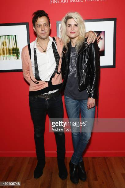 Jamie Hince and Alison Mosshart of band The Kills attend Jamie Hince's 'Echo Home' Exhibition Opening at Morrison Hotel Gallery on June 10 2014 in...