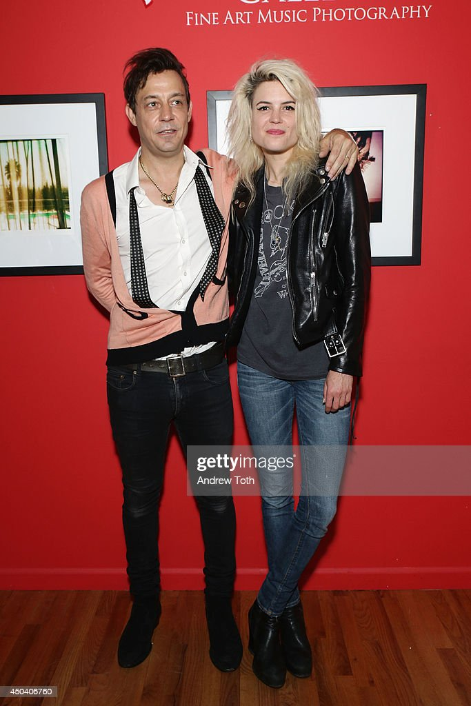 Jamie Hince (L) and Alison Mosshart of band The Kills attend Jamie Hince's 'Echo Home' Exhibition Opening at Morrison Hotel Gallery on June 10, 2014 in New York City.