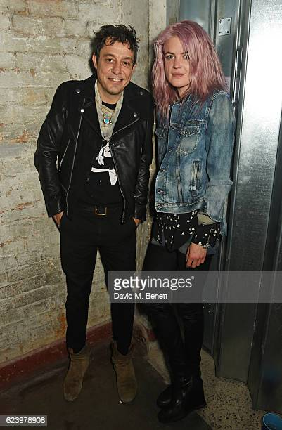 Jamie Hince and Alison Mosshart of The Kills attend Diesel's #forsuccessfulliving party on November 17 2016 in London England