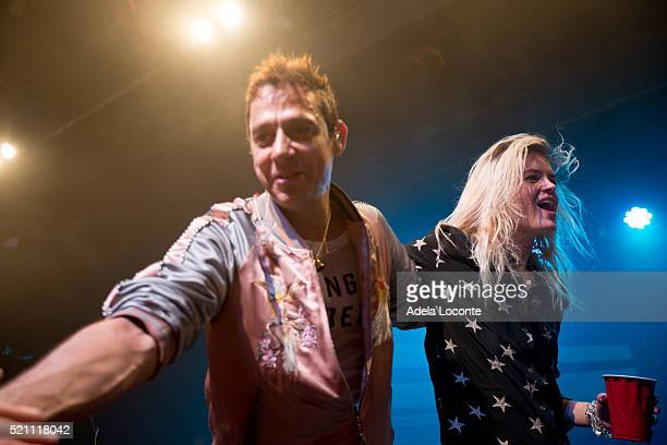 Jamie Hince and Alison Mosshart of The Kills perfom at Warsaw on April 13 2016 in New York City