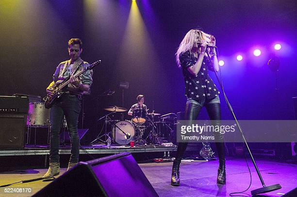 Jamie Hince and Alison Mosshart of The Kills perform at Mayan Theater on April 18 2016 in Los Angeles California