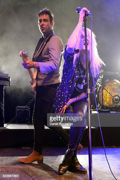 Jamie Hince and Alison Mosshart of The Kills perform at Riviera Theatre on May 23 2016 in Chicago Illinois