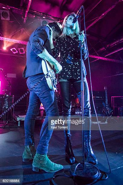 Jamie Hince and Alison Mosshart of The Kills perform in concert at sala Razzmatazz on November 1 2016 in Barcelona Spain