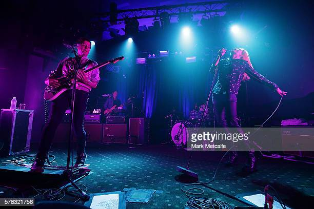 Jamie Hince and Alison Mosshart of The Kills perform on July 21 2016 in Byron Bay Australia