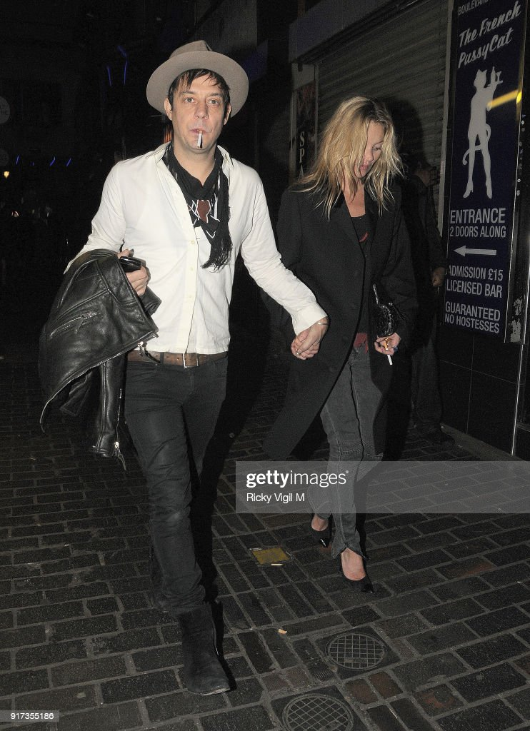 Jamie Hince And Kate Moss At The Box Club On November 24 2011 In