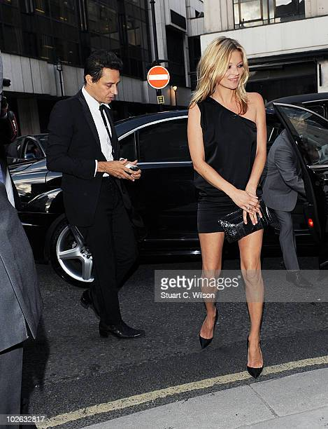Jamie Hince and Kate Moss attend Mario Testino's exhibition 'Kate Who' at Phillips De Pury on July 5 2010 in London England