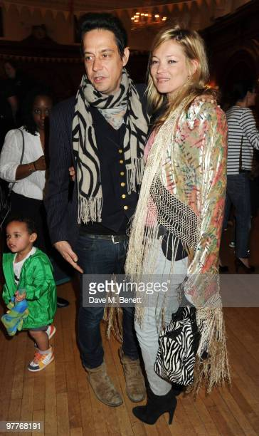 Jamie Hince and Kate Moss attend the launch for Stella McCartney's collection for GAP at the Porchester Hall on March 16 2010 in London England