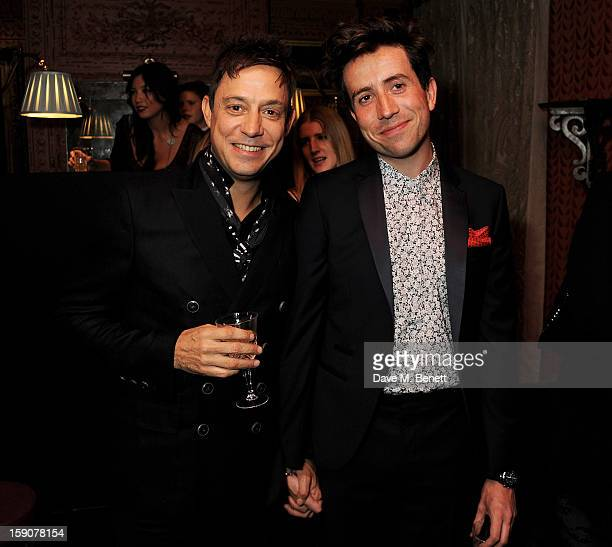 Jamie Hince and Nick Grimshaw attend the Esquire and Tommy Hilfiger party celebrating London Collections MEN AW13 hosted by Esquire editor Alex...