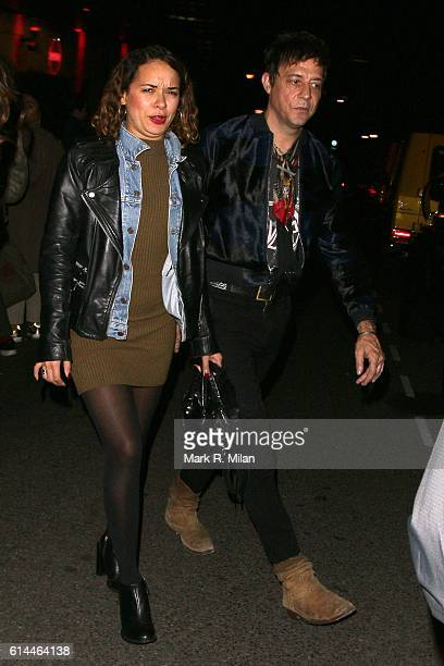 Jamie Hince arriving the Dazed 25th Anniversary party on October 13 2016 in London England