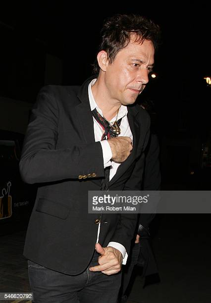 Jamie Hince at the Chiltern Firehouse on July 12 2016 in London England