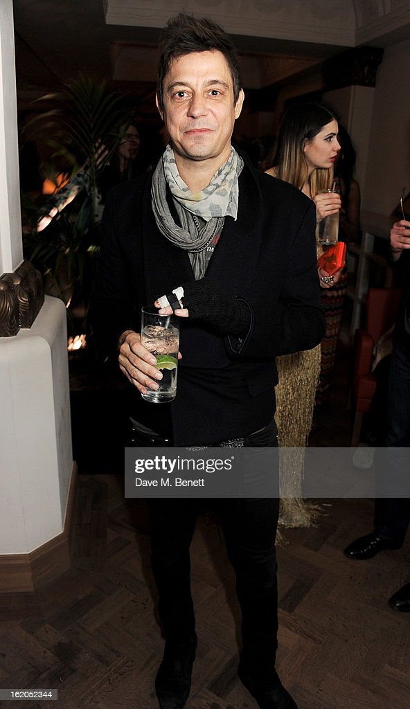 Jamie Hince attends the AnOther Magazine and Dazed & Confused party with Belvedere Vodka at the Cafe Royal hotel on February 18, 2013 in London, England.