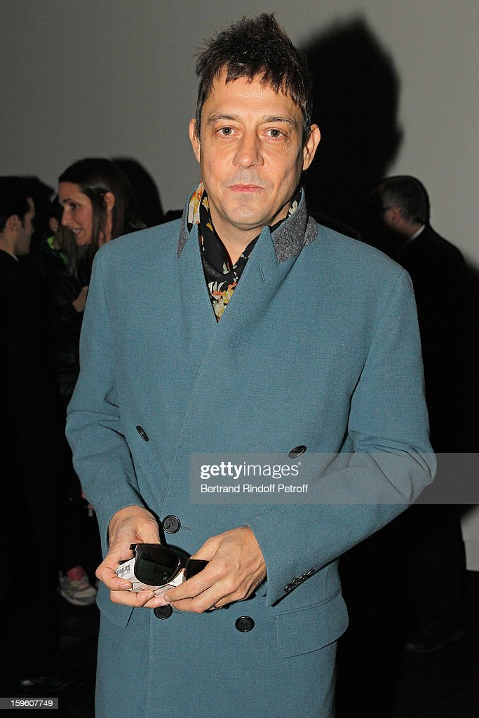 Jamie Hince attends the Louis Vuitton Men Autumn / Winter 2013 show as part of Paris Fashion Week on January 17, 2013 in Paris, France.