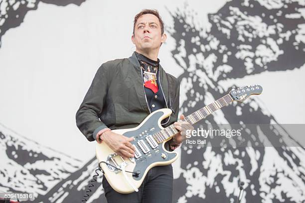 Jamie Hince from the Kills performs at the Isle Of Wight Festival 2016 at Seaclose Park on June 11 2016 in Newport Isle of Wight