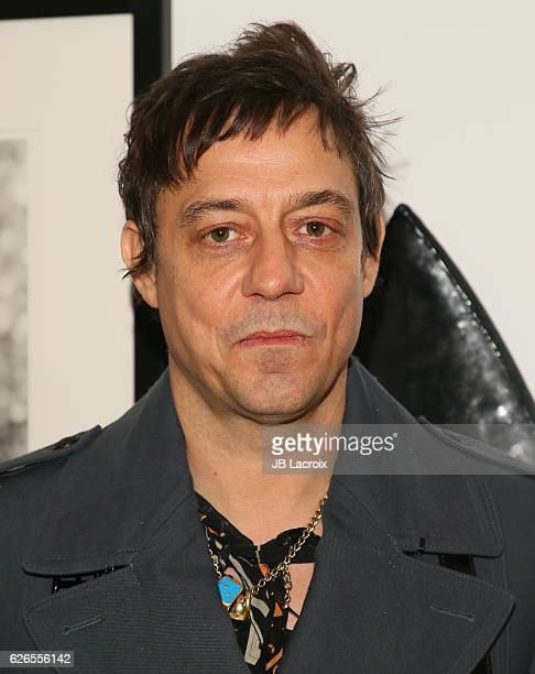 Jamie Hince of The Kills attends the exhibits 'Artists With Animals' held at Ron Robinson's store on November 29 2016 in Santa Monica California