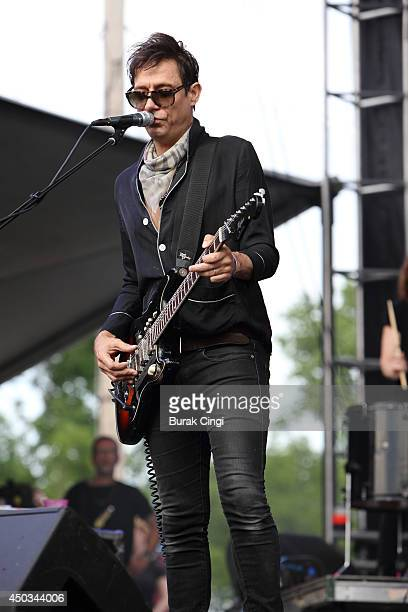 Jamie Hince of the Kills perform on stage during day 3 of The Governors Ball at Randall's Island on June 8 2014 in New York United States