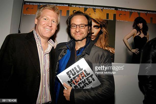 Jamie Hooper and Fisher Stevens attend GIANT Magazine and Rugged Land Books release party for Matthew Modine's Full Metal Jacket Diary at Gallery...