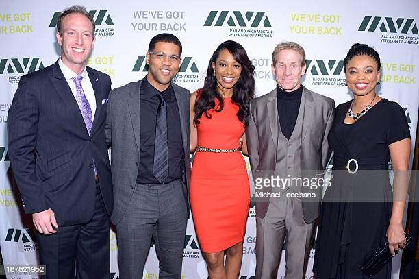 Jamie Horowitz Michael Smith Cari Champion Skip Bayless and Jemele Hill attend IAVA 7th Annual Heroes Gala at Cipriani 42nd Street on November 12...