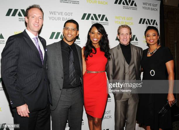 Jamie Horowitz Michael Smith Cari Champion Skip Bayless and Jemele Hill attend the 7th Annual IAVA Heroes Gala at Cipriani 42nd Street on November 12...