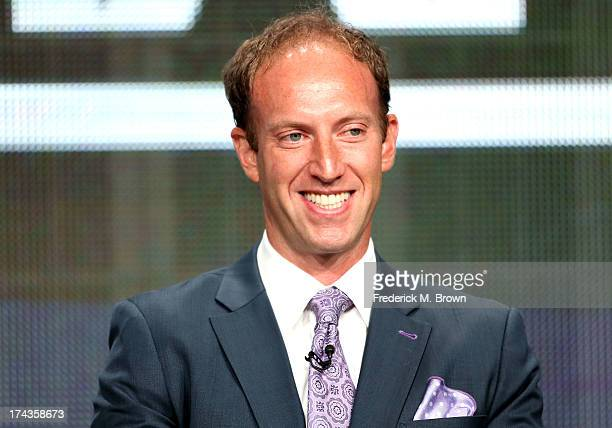 Jamie Horowitz VP at ESPN speaks onstage during the Olbermann panel at the ESPN portion of the 2013 Summer Television Critics Association tour at the...