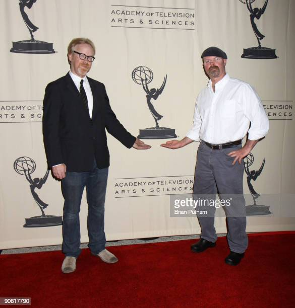 Jamie Hyneman and Adam Savage of 'Mythbusters' attends Emmy Nominees for Nonfiction Reality Programs party at Academy of Television Arts Sciences on...