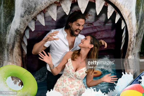 Jamie Jewitt and Camilla Thurlow attend a special screening of 'The Meg' at Brockwell Lido on August 7 2018 in London England