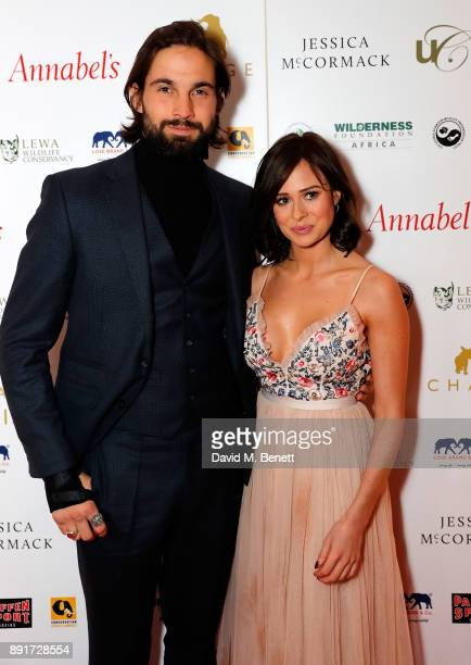 Jamie Jewitt and Camilla Thurlow attend The Charge II boxing fundraiser at The Lindley Hall on December 13 2017 in London England