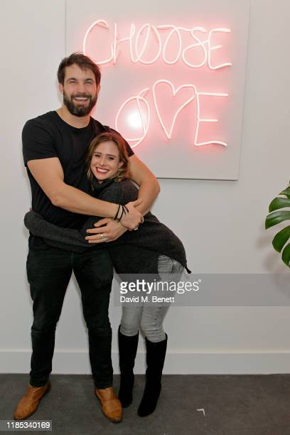 Jamie Jewitt and Camilla Thurlow attend the launch of the annual 'Choose Love' shop for Help Refugees on November 28 2019 in London England