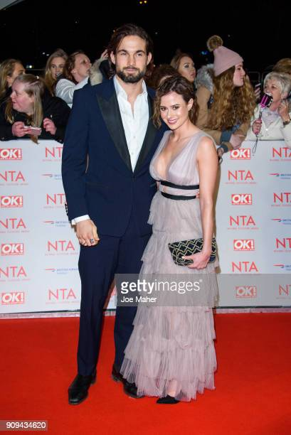 Jamie Jewitt and Camilla Thurlow attend the National Television Awards 2018 at The O2 Arena on January 23 2018 in London England