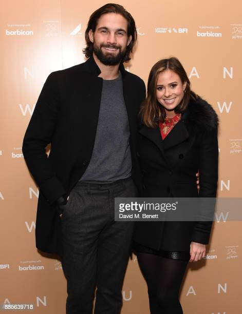Jamie Jewitt and Camilla Thurlow attend the UK Premiere of 'Human Flow' a film by Ai Weiwei at the Milton Court Concert Hall on December 4 2017 in...