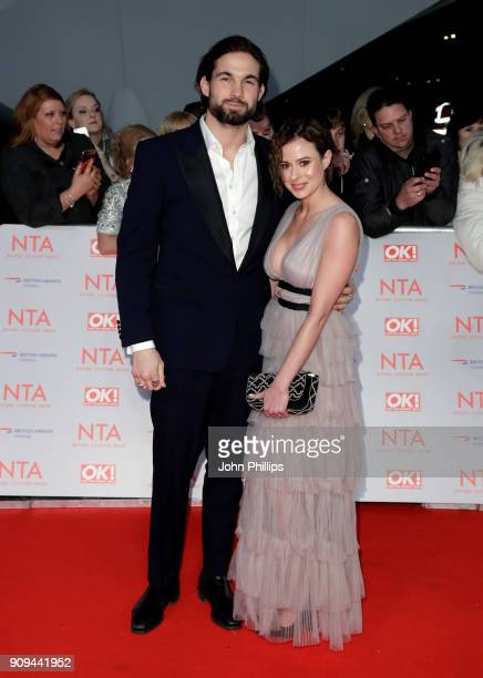 Jamie Jewitt and Camilla Thurlow attends the National Television Awards 2018 at the O2 Arena on January 23 2018 in London England
