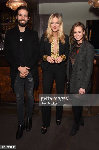 Jamie Jewitt Laura Whitmore and Camilla Thurlow attend the MTV Staying Alive gala at 100 Wardour St on November 8 2017 in London England