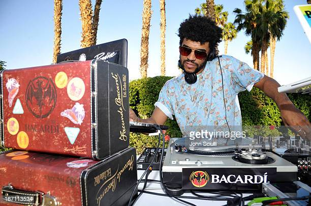 Jamie Jones attends the Soho House Pop Up with Bacardi during Coachella 2013 at Merv Griffin Estate on April 20 2013 in La Quinta California