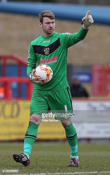 Jamie Jones of Stevenage in action during the Sky Bet League Two match between Stevenage and Northampton Town at the Lamex Stadium on March 19 2016...