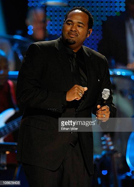 Jamie Jones of the RB group All4One performs during the David Foster and Friends concert at the Mandalay Bay Events Center October 15 2010 in Las...