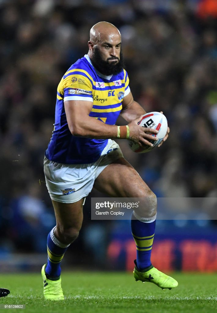 Jamie Jones-Buchanan of Leeds during the Betfred Super League match between Leeds Rhinos and Hull Kingston Rovers on February 8, 2018 in Leeds, England.