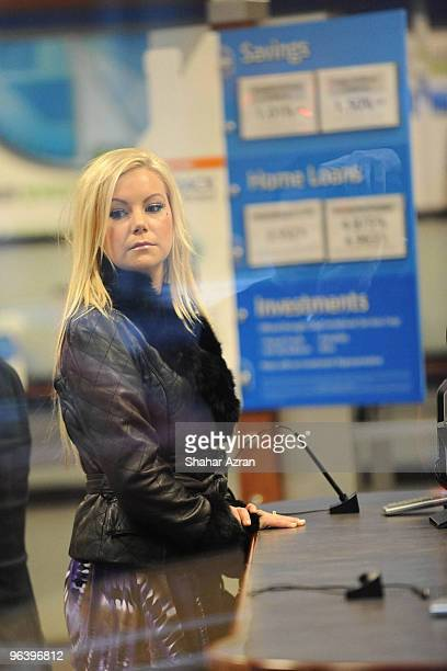 Jamie Junger at a bank on December 14 2009 in New York City