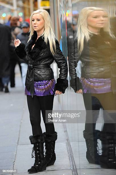 Jamie Junger outside of a bank on December 14 2009 in New York City
