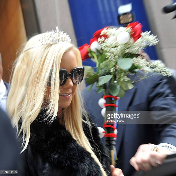 Jamie Jungers wins first place in Howard Stern's Mistress Beauty Pageant outside of SIRIUS XM Studio on March 10 2010 in New York City