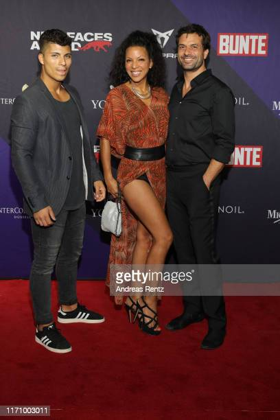 """Jamie, Kai Schumann with his partner Marva Schreiber attend the Bunte """"New Faces Award Music"""" on August 29, 2019 in Dusseldorf, Germany."""