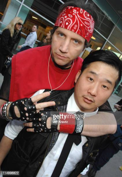 Jamie Kennedy and Bobby Lee during Kickin' It Old Skool Los Angeles Premiere Red Carpet at ArcLight in Los Angeles California United States