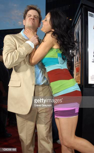 Jamie Kennedy and Christa Campbell during Malibu's Most Wanted Los Angeles Premiere at Graumans Chinese Theater in Hollywood California United States