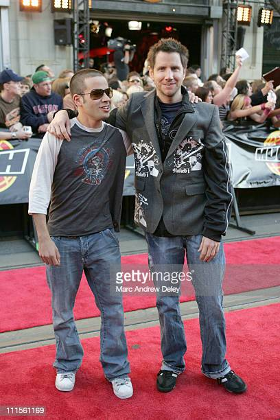 Jamie Kennedy and guest during 2005 MuchMusic Video Awards Red Carpet at CHUM CITY TV Building in Toronto Canada